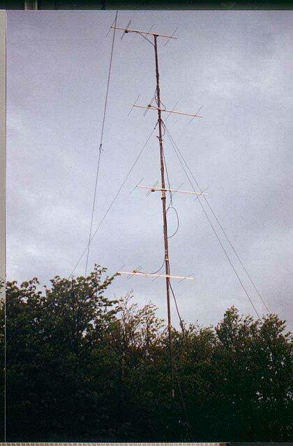 Obr.6 - fotografia hotovej sústavy 4x4 el.yagi na Velkom Javorniku, 1269 m asl.