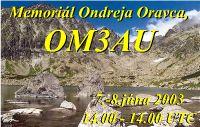 Pozvánka na Memoriál Ondreja Oravca, OM3AU
