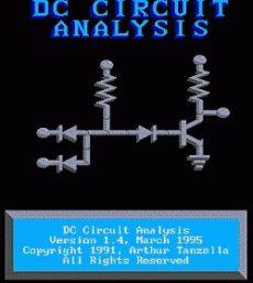 Analýza elektronických obvodov programom DC Circuit Analysis 1.4