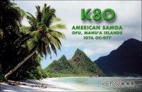 QSL lístok K8O (malý obrázok)