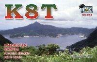 QSL lístok K8T (malý obrázok)