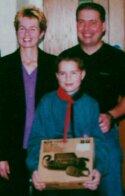 Andrew s hrdými rodičmi