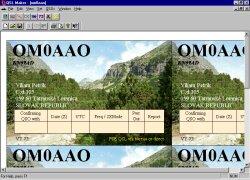 Program QSL Maker s hotovými lístkami