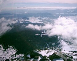 Pohľad z vrcholu Soliska do Popradskej doliny