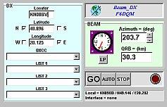 Obrazovka programu Beam DX