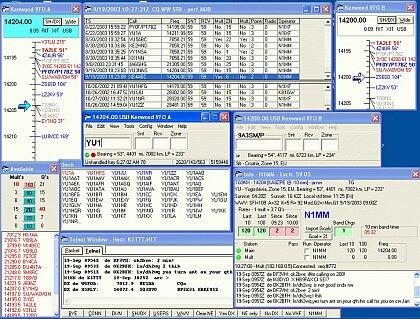 Príklad konfigurácie okien od N1MM