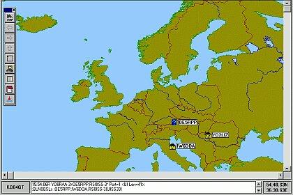 UI-View s odlišným zobrazením mapy po inom prelete ISS