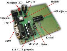 Vývojové doska pre ATMEL procesory AVR20