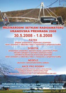 Pozvánka na stretnutie Vranovská přehrada 2008