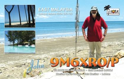9M6XRO portable QSL