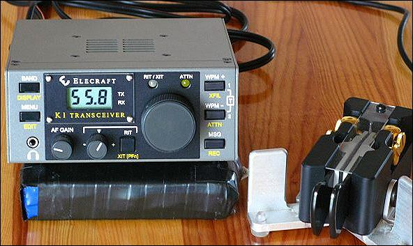 Elecraft K1 + Begali Traveller light