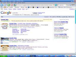 Výsledky vyhľadávania vo Firefox-e s doplnkom náhľadov stránok