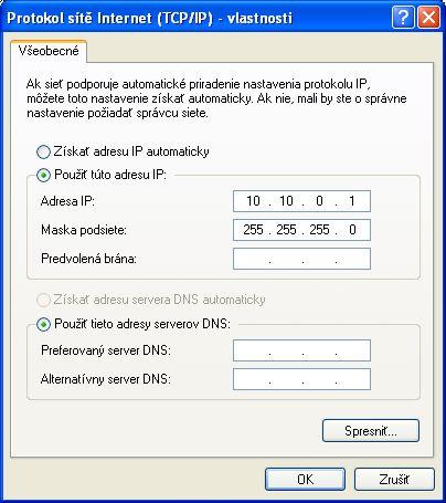 Konfigurácia TCP/IP