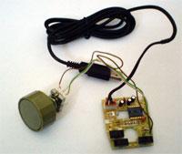 Upravená počítačová myš s rotačným enkodérom