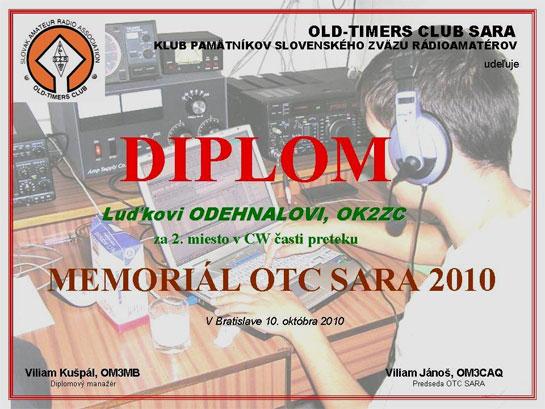 Diplom 2.miesto - OK2ZC