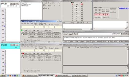 Dve bandmapy + dve VFO okná N1MM