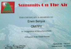 SOTA diplomy OM7PY