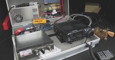 Kufrík OM1ii s rádiostanicou a príslušenstvom