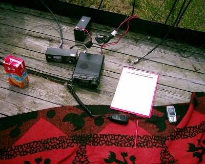FT-857D napájaná akumulátorom
