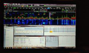 SDR spektrum 40m počas contestu