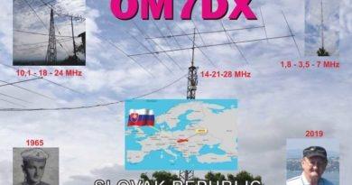 OM7DX QSL lístok