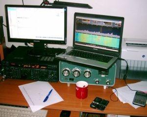 FT-1000MP s home made SDR spektroskopom