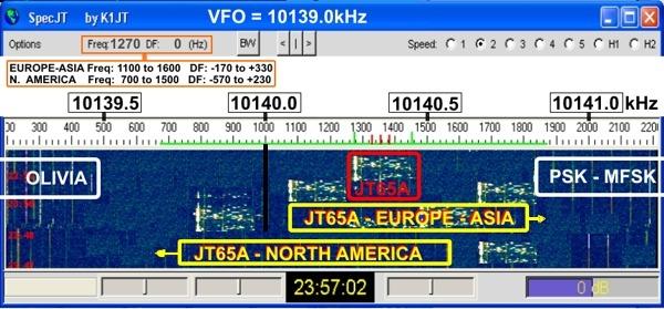 JT65A na 30m pásme