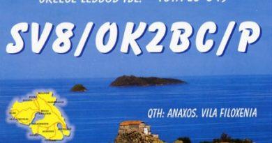 SV8/OK2BC/p QSL lístok