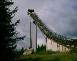 Skokanský mostík na Štrbskom plese