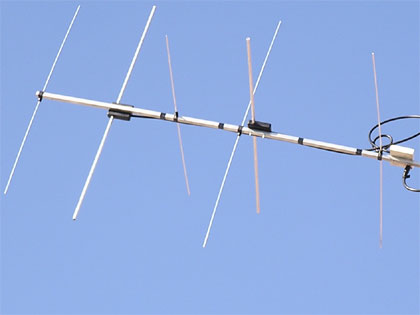 Krížová yagi anténa pre satelitnú prevádzku