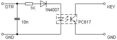 Obrázok 1 Schéma zapojenia kľúčovacieho obvodu bez prevodníka