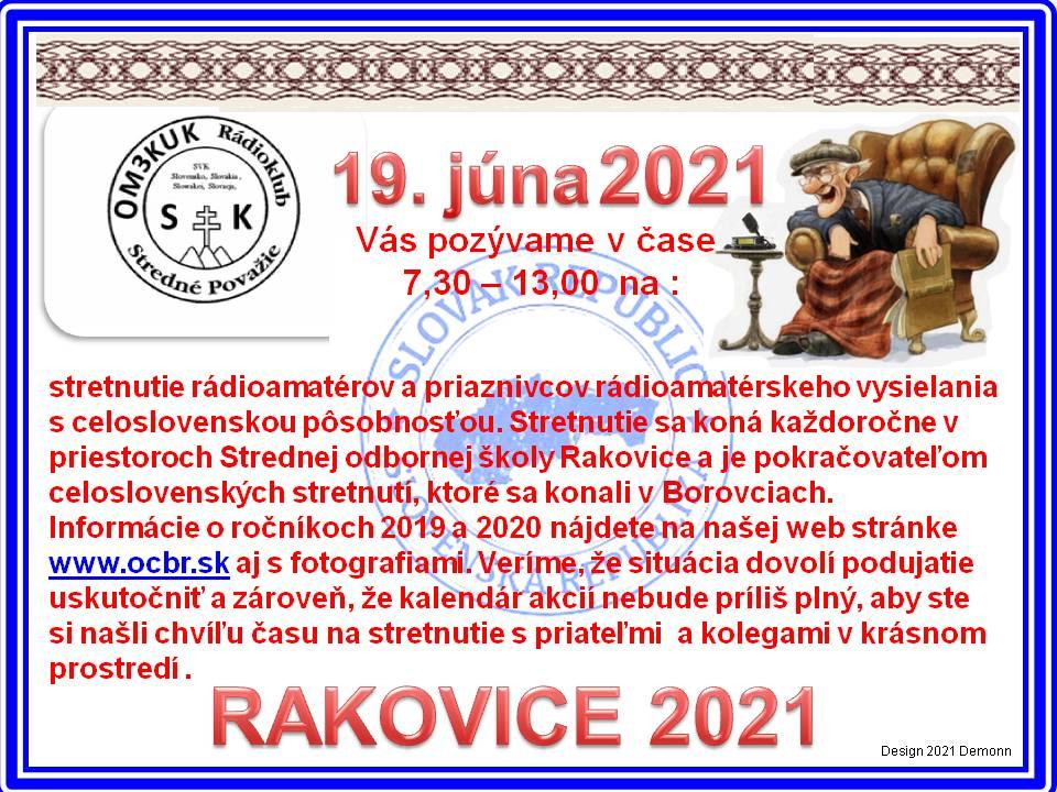 Rakovice 2021 POZVÁNKA