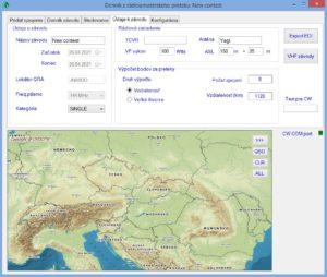 Zadanie údajov závodu vo Contest_VHF_logger-i